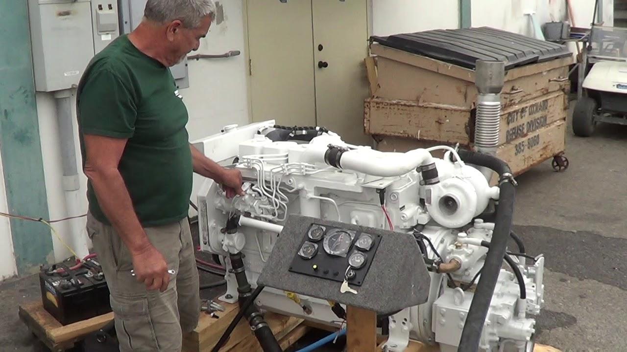 Cummins Marine 6BT 5 9 210 with DMT 90 3 46 Transmission - Engine #2 Test