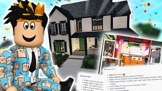 building a bloxburg house but EACH ROOM IS A DIFFERENT UPDATE...