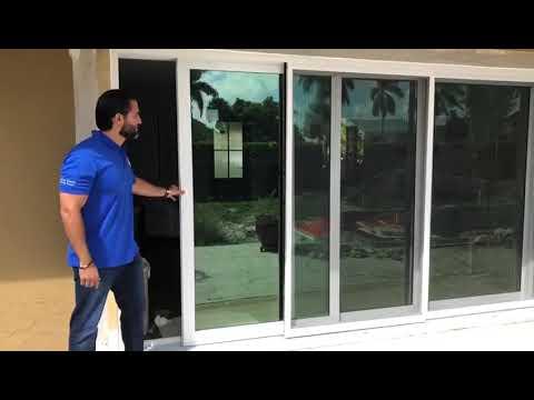 multi track impact sliding glass door