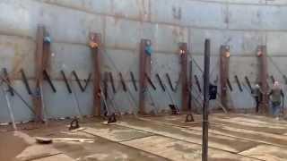 Oil storage tank  construction video