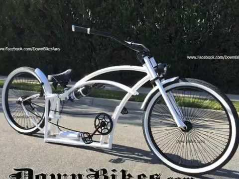 Stretch Beach Cruiser Bicycles Custom Made Air Ride Suspension