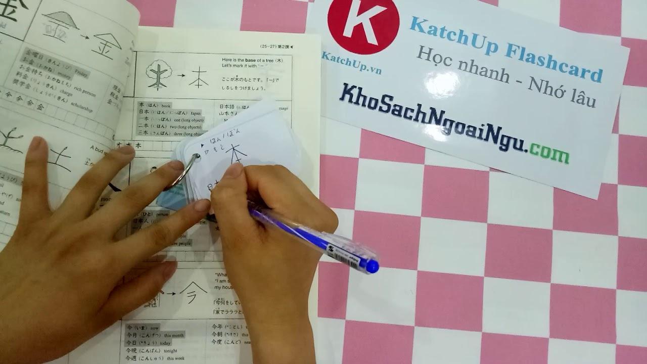 Cách tự làm flashcard kanji đơn giản cho người học tiếng Nhật