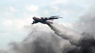 FOREST FIRES IN RUSSIA VKS RF ASSISTED IN EXTINGUISHING THE FIRE  Il-76