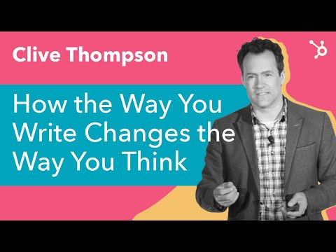 """INBOUND Bold Talks: Clive Thompson """"How The Way You Write Changes the Way You Think"""""""
