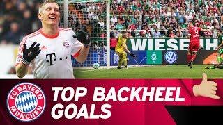 vuclip Top 🔟 Backheel Goals w/ Lewandowski, Schweinsteiger & More! 💥