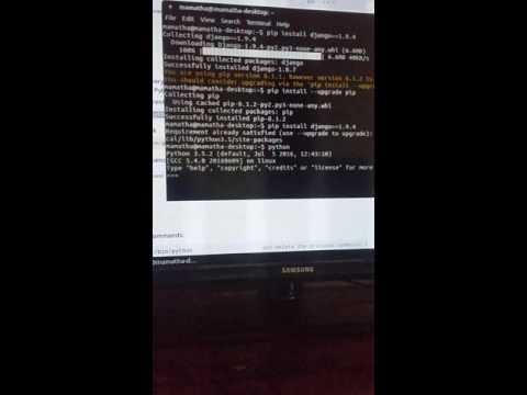 Ubuntu linking python old to new and installing   django new