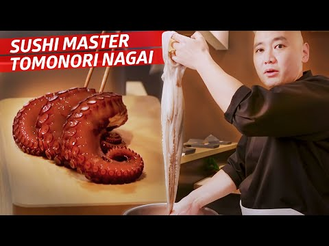 How Master Sushi Chef Tomonori Nagai Prepares An Octopus For His Omakase  — Omakase