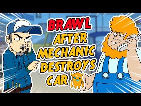 Hillbilly BRAWL After Mechanic Destroys Car (animated)