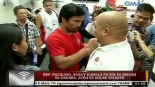 24 Oras: Rep. Pacquiao, sana'y dumalo pa rin sa sesyon sa Kamara, ayon sa House Speaker