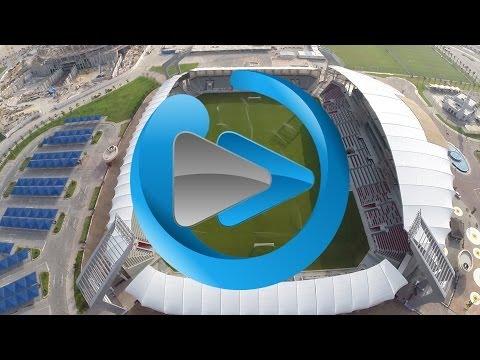 Aerial Footage of Abdullah Bin Khalifa a.k.a. Lekhwiya Sports Club Stadium Doha Qatar