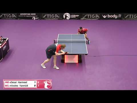 Harmeet Desai Vs Yannick Vostes (Challenger Series January 7th 2020 Group Match)