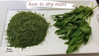 How To Dry Mint In Easy Way, How To Dry Herbs خشک کردن نعنا به طریقه آسان Pudina Powder recipe