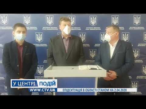 Телеканал C-TV: Епідситуація в області станом на 2 04 2020