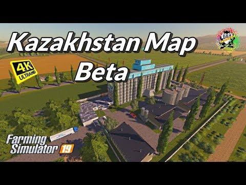 💖 Kazakhstan Map Beta, Let's Fly  Fs-19 in 4K Resolution