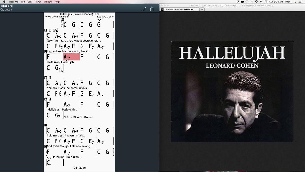 Hallelujah Chords at MyPartitur - YouTube