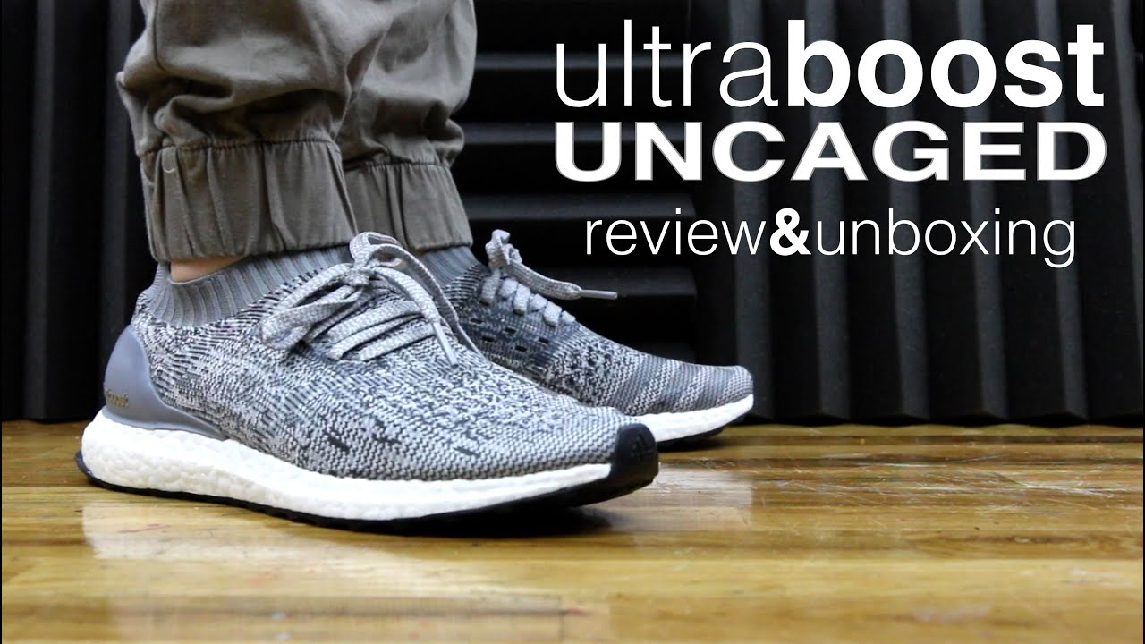e2e516d4d790d ADIDAS ULTRA BOOST UNCAGED REVIEW AND UNBOXING - YouTube