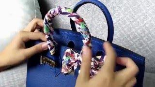 How To Tie A Scarf On A Handbag By Viranda