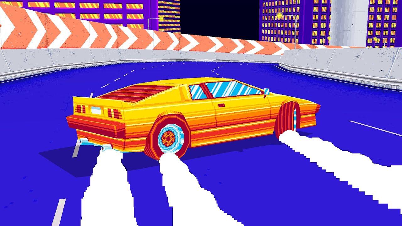Vaporwave Car Game