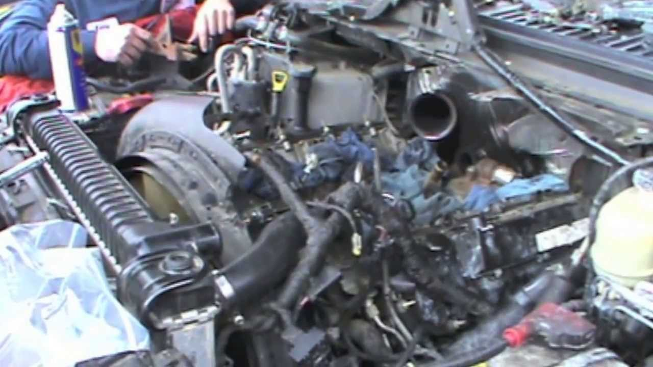 6 0 powerstroke engine diagram egr oil cooler removl on the ford 6.0 powerstroke diesel - youtube