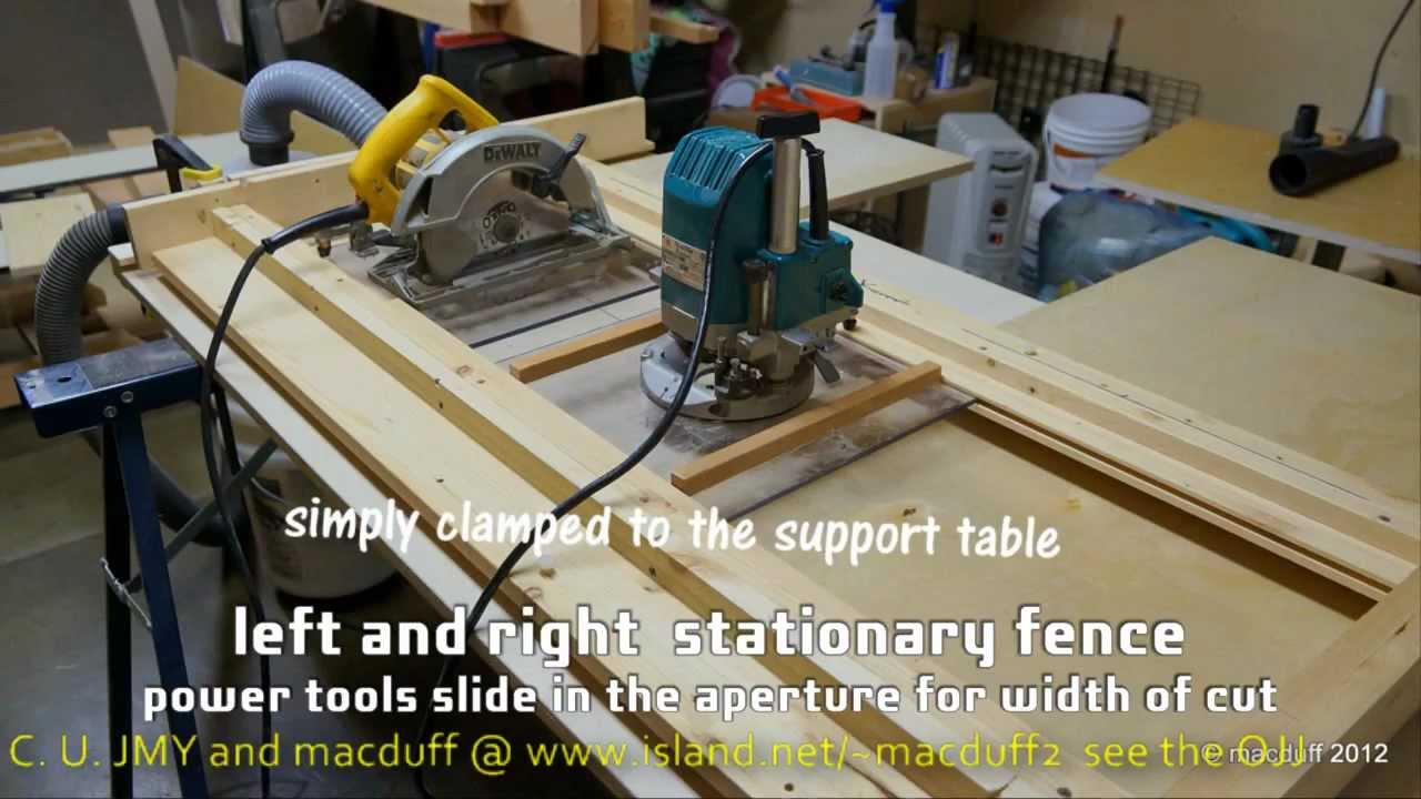 circular saw table. how to complement the cutting table .wmv and mastercraft universal rear plunge circular saw