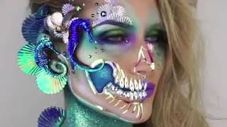 This makeup artist uses props to achieve insane results