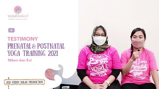 Testimonials Prenatal & Postnatal Yoga Training : Niken dan Evi