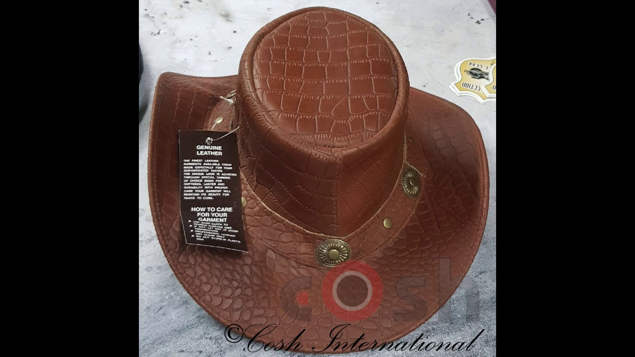 ef6ac9777b1 Leather Hats Supplier From Pakistan - YouTube