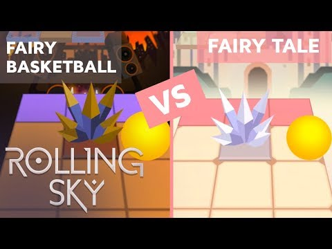 Rolling Sky Fairy Basketball Vs Fairy Tale (ReSkinned Version) | SHAvibe