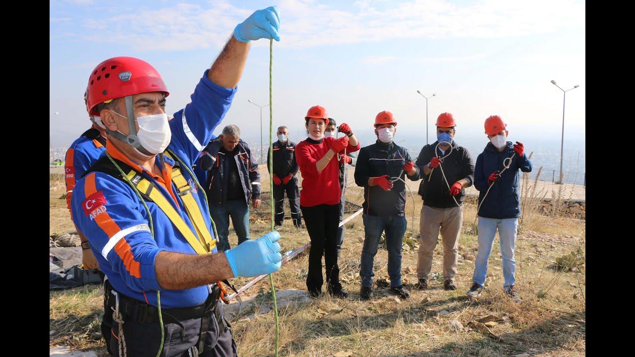 AFAD gönüllüleri eğitimini tamamladı