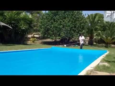 Cubre piletas super resistente con sistema para enrollar Como hacer un cubre piscinas