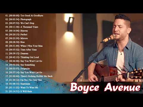 Boyce Avenue Greatest Hits - Boyce Avenue Acoustic playlist 2018