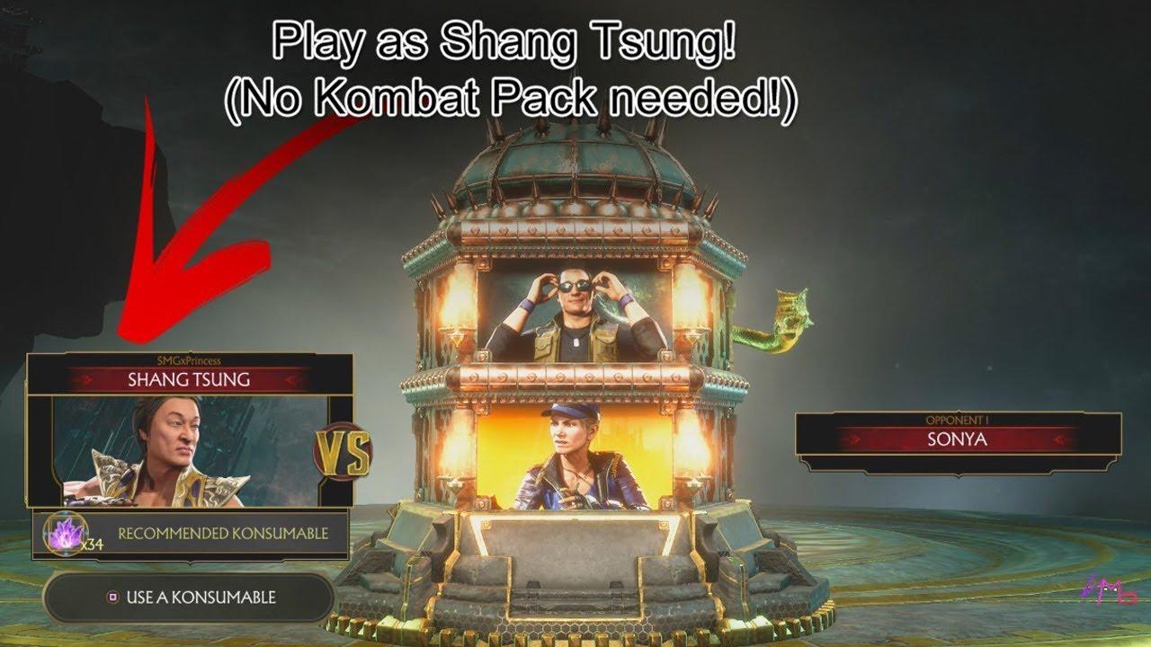 How to play as Shang Tsung FREE! No Kombat Pack Required! MORTAL KOMBAT 11