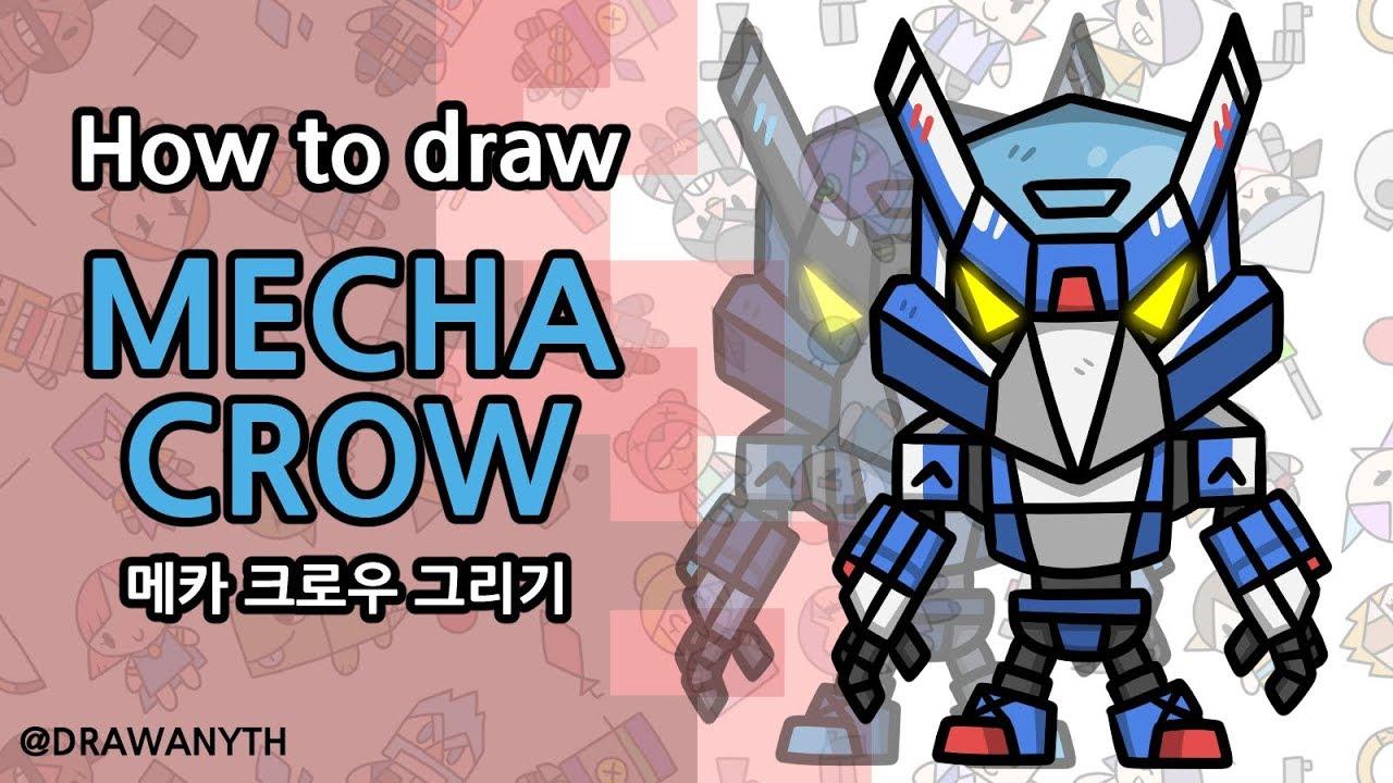 How to draw Mecha Crow   Brawl Stars - YouTube