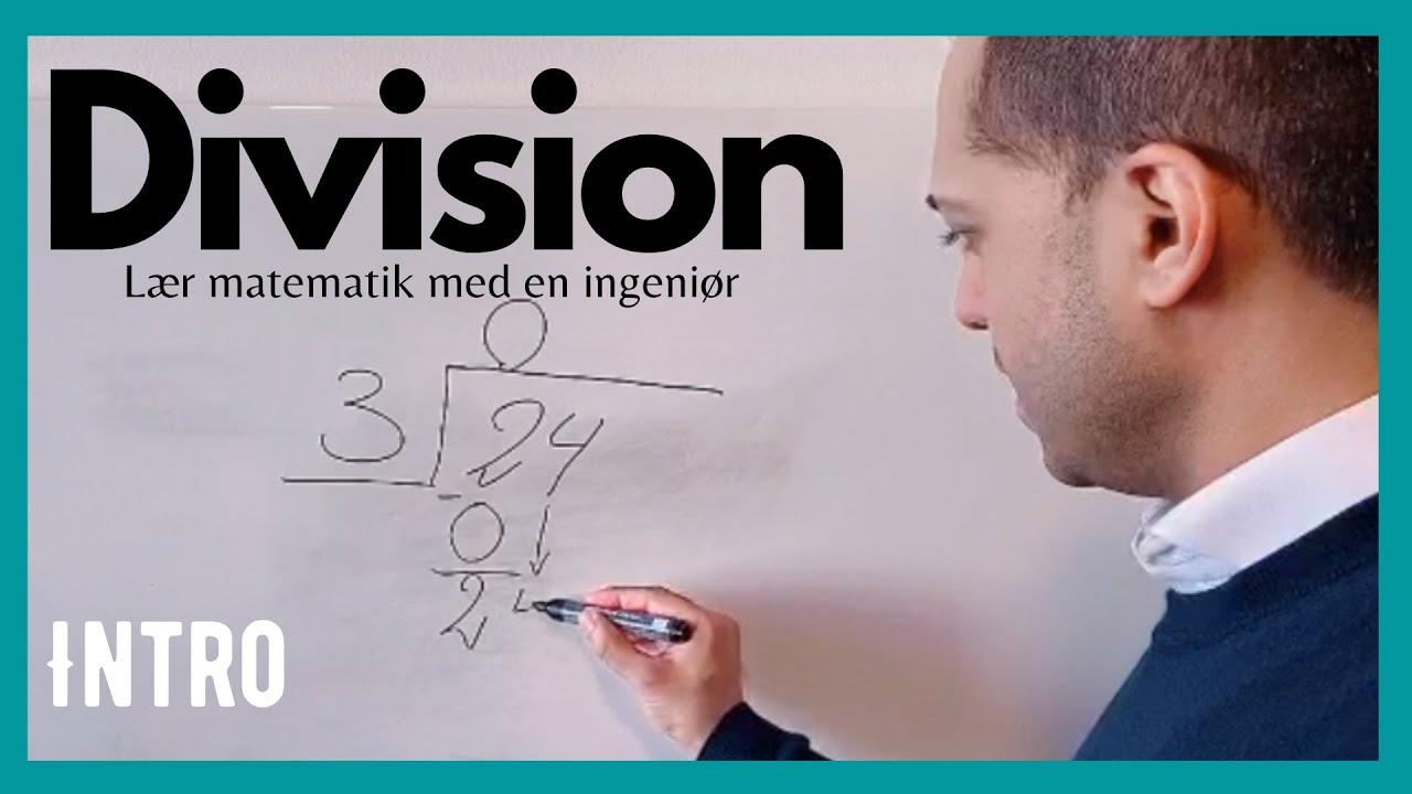 INTRO: Division - hvordan dividerer man (trappemetoden)?