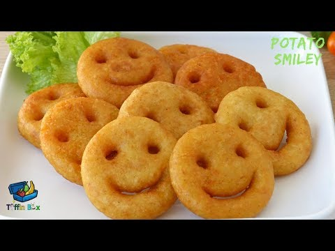 Homemade Potato Smiley / Emoji Fries Recipe || Easy Evening snacks idea for kids , পটেটো স্মাইলি