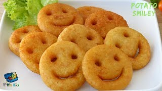 Homemade Potato Smiley Emoji Fries Recipe Easy Evening snacks idea for kids ,