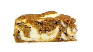 """Пирог """"Мраморный"""" творожно-морковный. Нежный, ароматный, сочный. Видео 4к"""