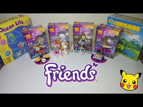 LEGO Friends | Drummer, Pianist, Singer & Bartender | Education Toys | Assemble Unboxing