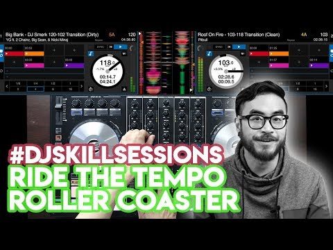 The Tempo Roller Coaster - Huge BPM Transitions On Reloop Mixon 4 + Serato DJ Pro! #DJSkillSessions