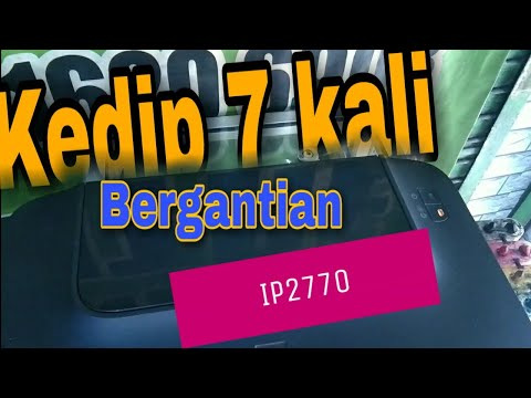CARA ATASI BLINKING 16 KALI PRINTER CANON IP2770/2700 [ ERROR LEVEL TINTA ].