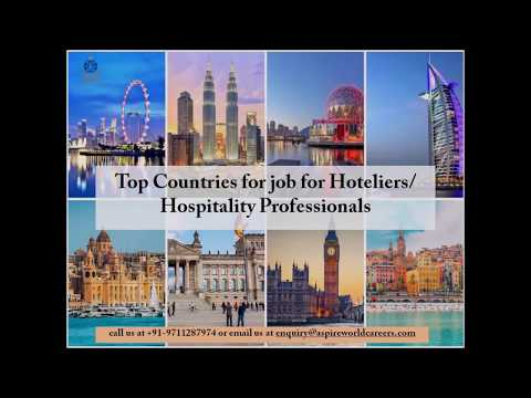 Top Countries For Hoteliers Jobs | Best Abroad Job Consultants -Aspire World Immigration