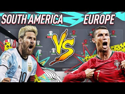 EUROPE'S BEST VS SOUTH AMERICA'S BEST FIFA 20 EXPERIMENT! GIVEAWAY FORFEIT!