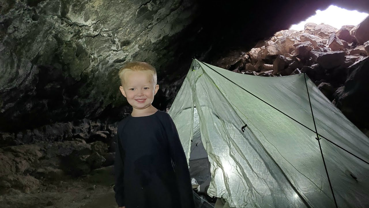 Camping In Desert Volcano - Backpacking, Hiking Sand Dunes & Backcountry Camping in Lavatubes
