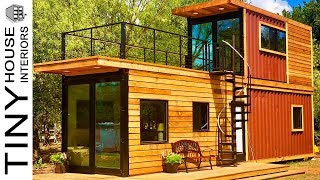 This Tiny Home With A Rooftop Deck Is Made From Two Shipping Containers | Tiny House Interiors