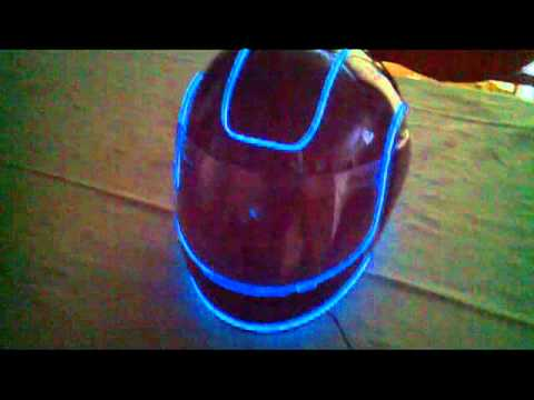 Tron Motorcycle Helmet Youtube