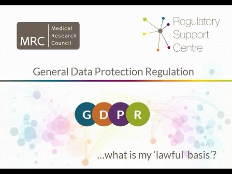 General Data Protection Regulation: Likely lawful basis for research