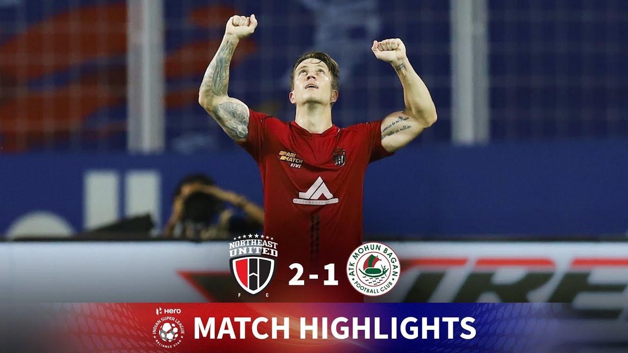 Download Highlights - NorthEast United FC 2-1 ATK Mohun Bagan - Match 72   Hero ISL 2020-21