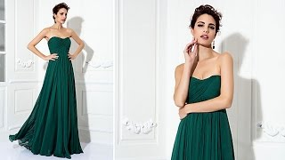 Вечернее платье. Платье - Трапеция. Ball Dress   A line Princess Strapless Sweep