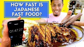 How FAST is Japanese Fast Food | Tokyo Best 7
