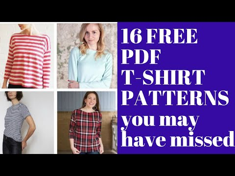16 Free T-Shirt Sewing Patterns You May Have Missed!